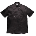 Portwest C733 Cumbria Chefs Jacket Short Sleeve Black Large